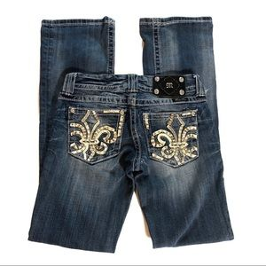 Miss Me Bling Boot Cut Embellished Jeans